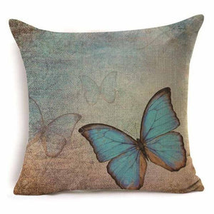 Blue morpho butterflies cushion covers pillow cases