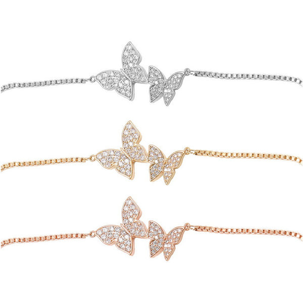 Butterfly bracelets (3 colors together)