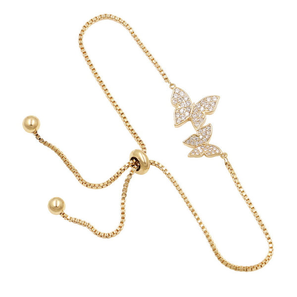 Bracelets for women Butterfly bracelets (gold)