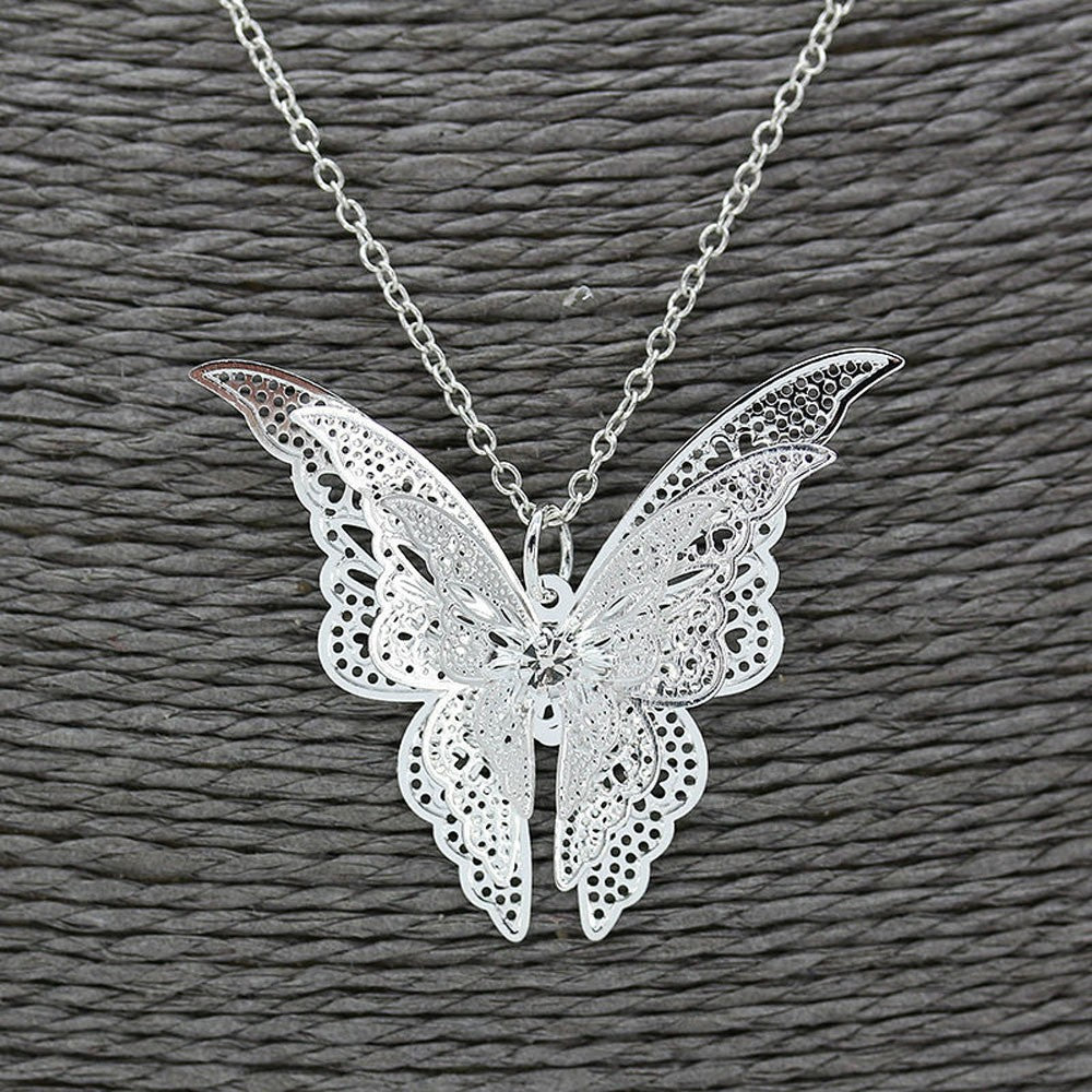 Butterfly necklace Statement necklace for women Cheap neclace (Close up view)
