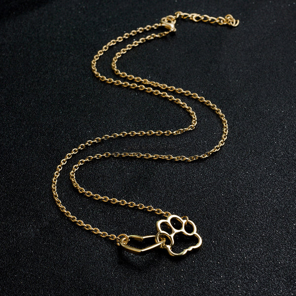 Dog cat paw necklace Charm necklace for women 4