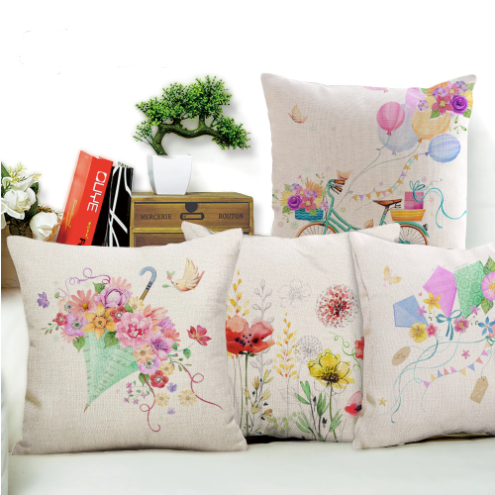 Garden dreams floral cushion covers Butterflies pillow case (all colors)