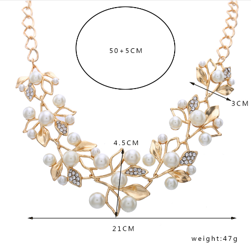 Flower necklace statement necklace for women dimensions