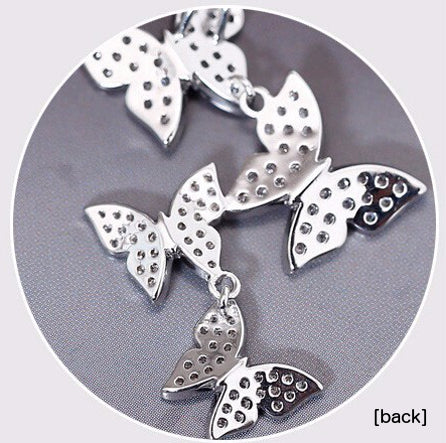 Butterfly necklace's backside, made of sterling silver too!