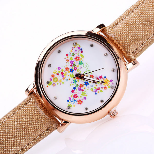 Color Carnival -- Butterfly watches Women watches (front view)