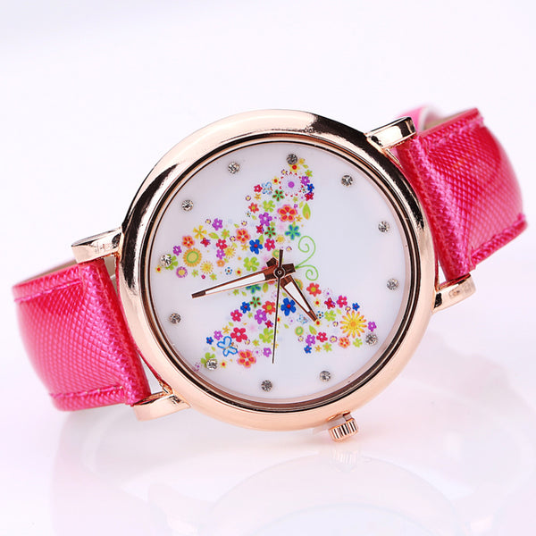 Color Carnival -- Butterfly watches Women watches (pink version)