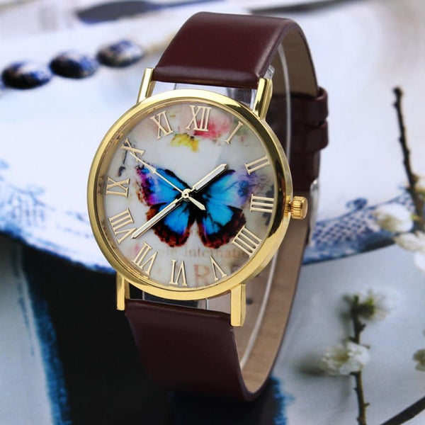 Roman Classic Women's Butterfly Watches tilted