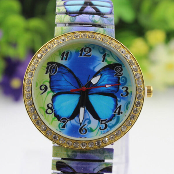 Blue Paradise Butterfly Watch close view
