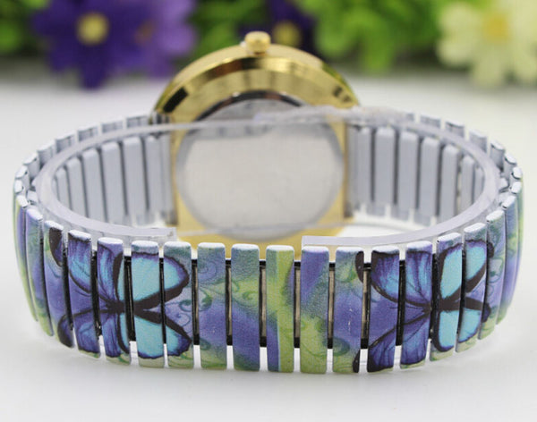 Blue Paradise Butterfly Watch back view