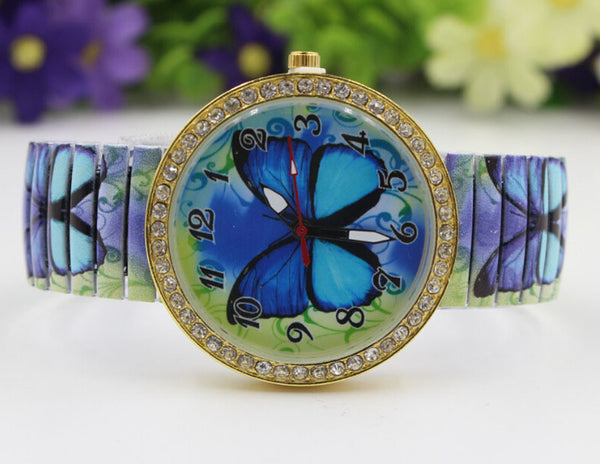 Blue Paradise Butterfly Watch horizontal
