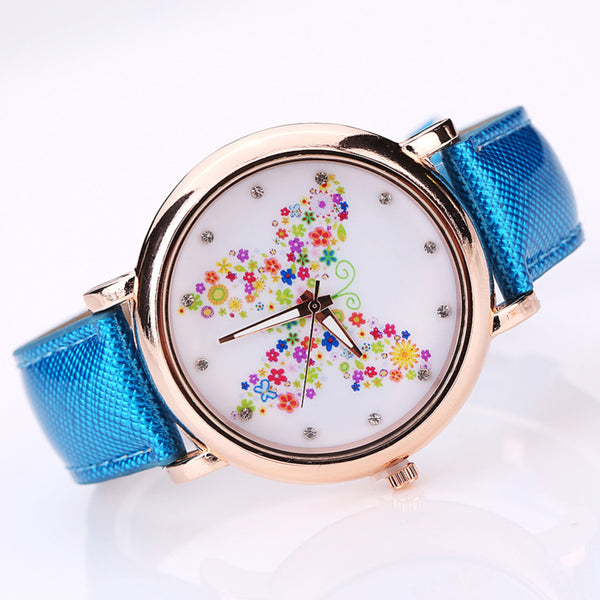 Color Carnival -- Butterfly watches Women watches (blue version)