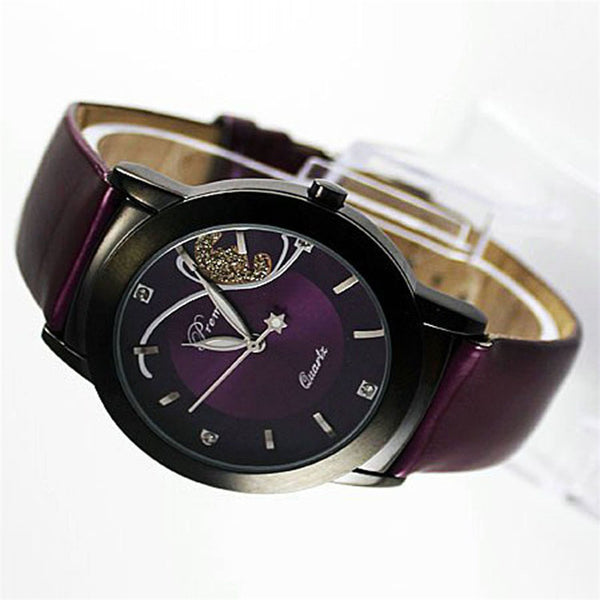 Modern Glamor Butterfly Watches side view (purple)