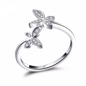 Lilia butterfly ring Sterling silver rings for women (main view)