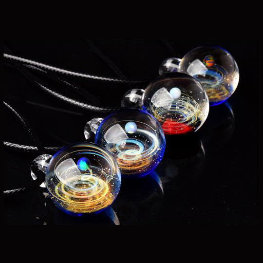 Universe Glass Art Pendant Necklace