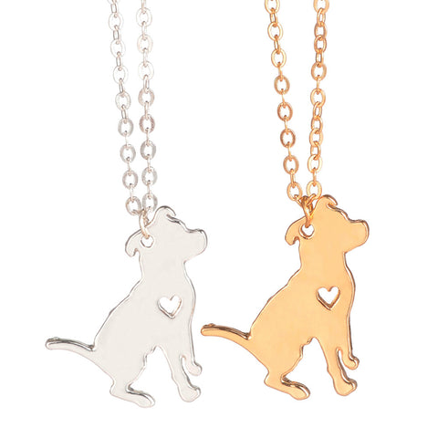 Pit bull dog necklace Charm necklace for women (two colors)