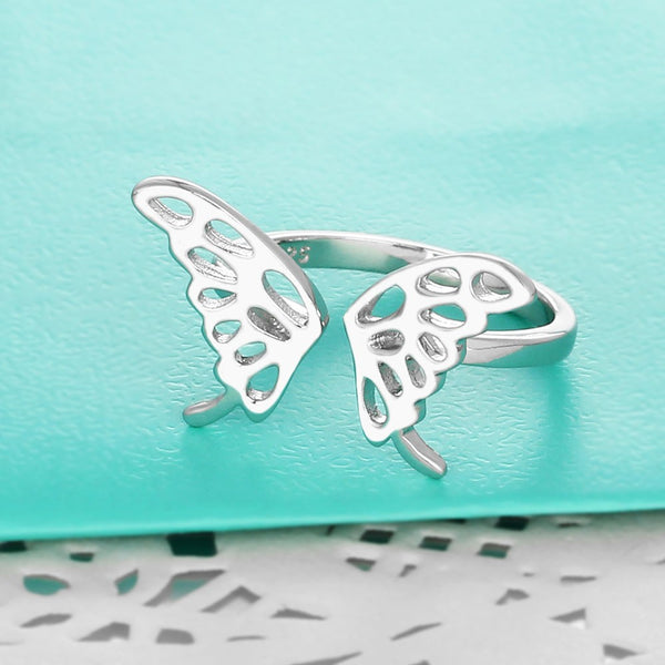 Purity butterfly ring Adjustable ring 3 (top view)