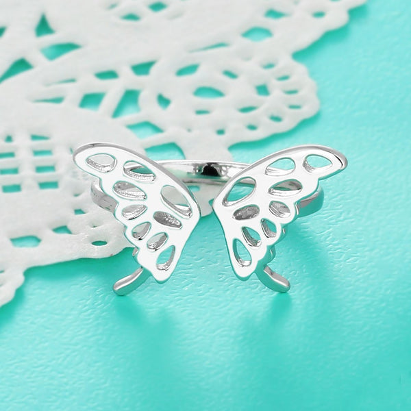Purity butterfly ring Adjustable ring (front view 2)
