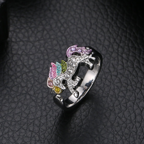 Adjustable rings for women Unicron ring sparkling in the dark