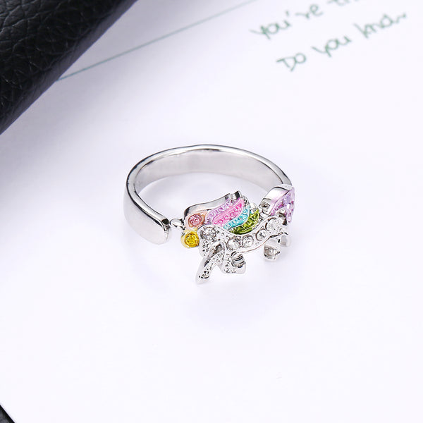 Adjustable rings for women Unicron ring (flat view)