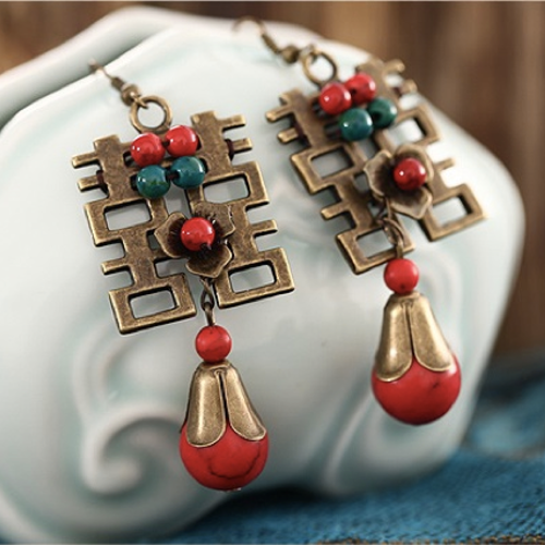 Double Happiness Earrings