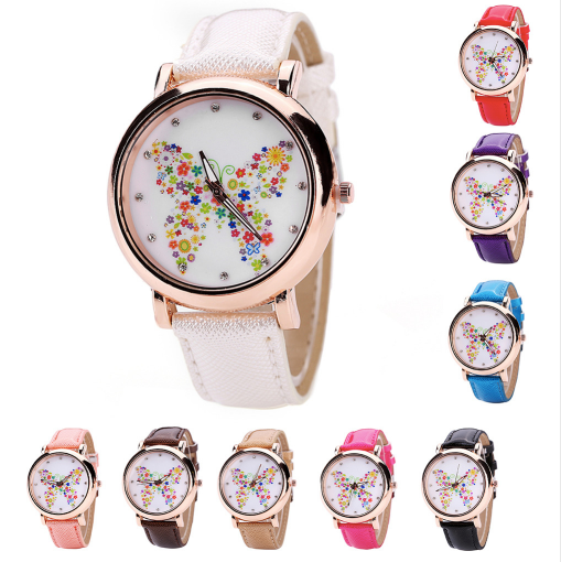Color Carnival -- Butterfly watches Women watches (all colors)