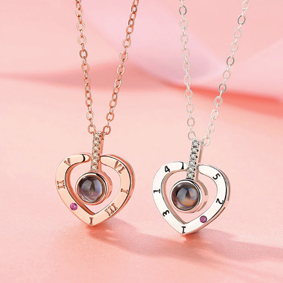 2 I Love You Necklace pendants in heart shape