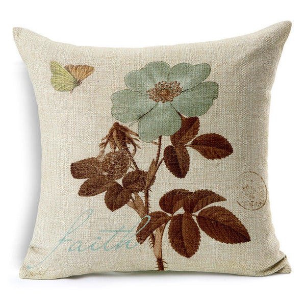 Vintage floral cushion covers Pillow cases (pansy)