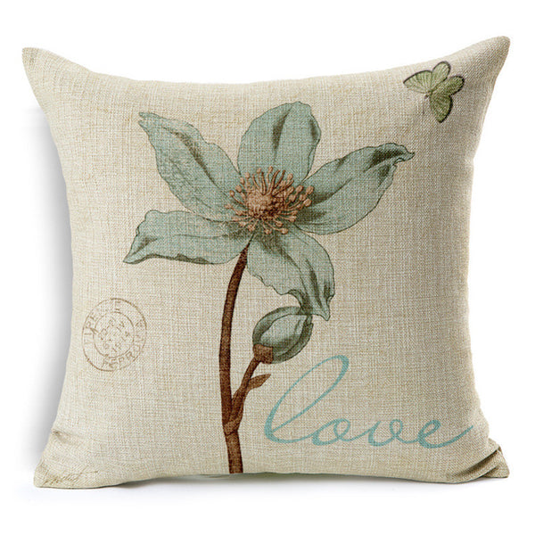 Vintage floral cushion covers Pillow cases (lily flower)