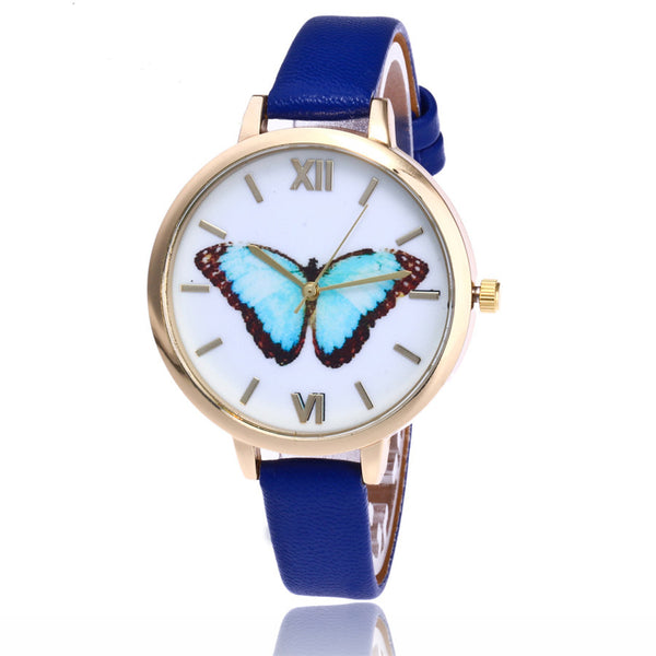Blue Emperor -- Women Butterfly Watches (blue)