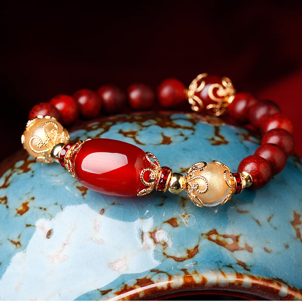 This is a bracelet with Asian style design