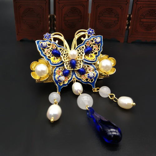 Asian style butterfly brooch for women
