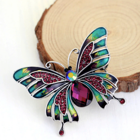 butterfly brooch for women