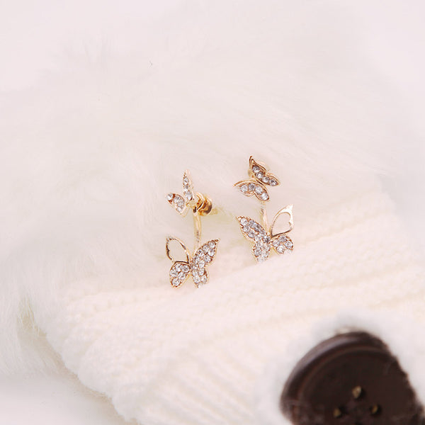 Butterfly earrings Stud earrings for women Cheap earring (they look nice with white clothes)