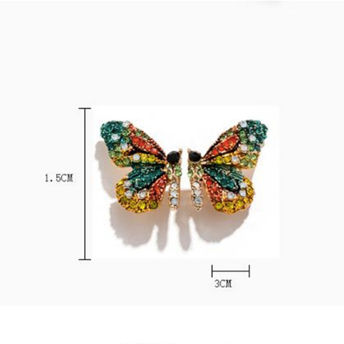 Butterfly earrings Stud earrings for women Cheap earring (dimensions)