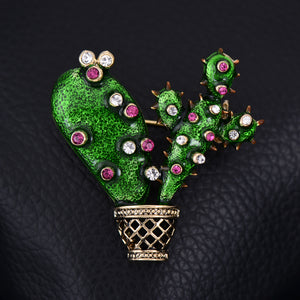 brooch for women, in shape of cute cactus