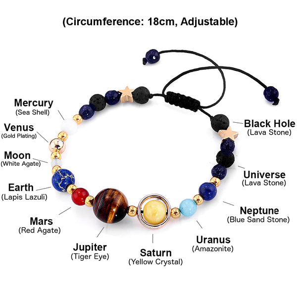 all the planets on the solar system charm bracelet