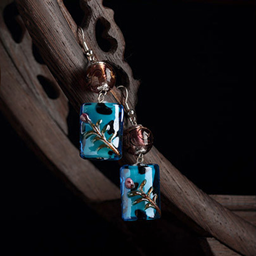 refreshing blue stained glass, perfect for a summer day!