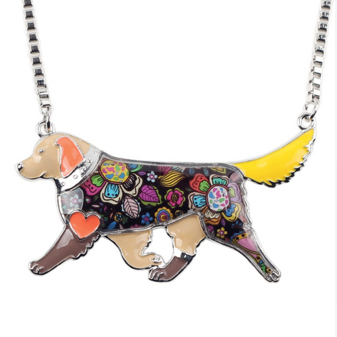Animal jewelry Dog necklace Enamel necklace for women 1