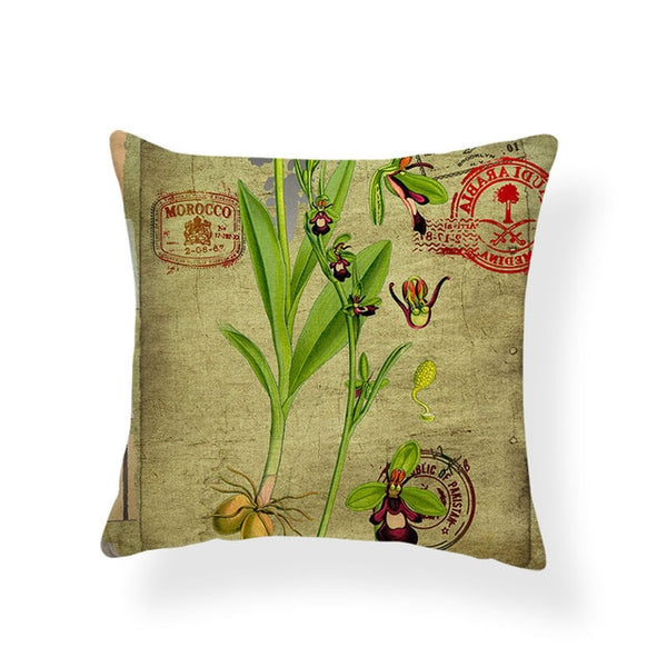 Dragonflies and Butterflies -- Vintage Style Cushion Covers