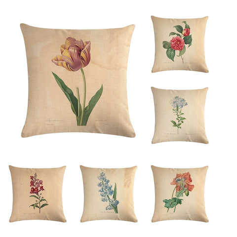 Vintage flowers Floral cushion covers Pillow case (full collection)