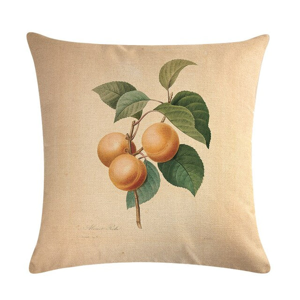 Vintage flowers Floral cushion covers Pillow case (peach)