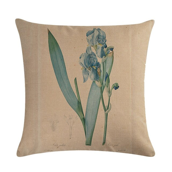 Vintage flowers Floral cushion covers Pillow case