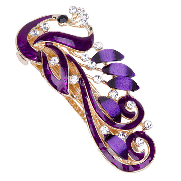 purple phoenix hair barrette