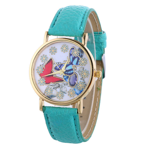 butterfly watch (sky blue)