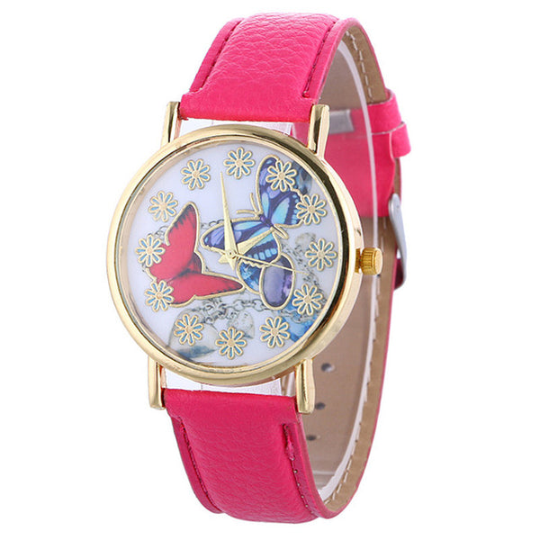butterfly watch (hot pink)