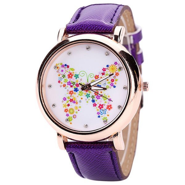 Color Carnival -- Butterfly watches Women watches (purple)