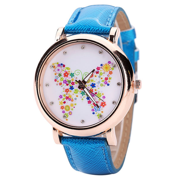 Color Carnival -- Butterfly watches Women watches (blue)
