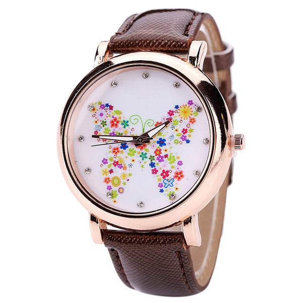 Color Carnival -- Butterfly watches Women watches (brown)