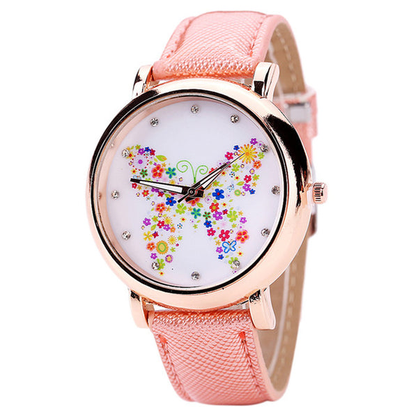 Color Carnival -- Butterfly watches Women watches (pink)