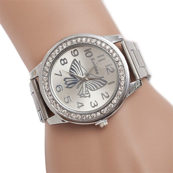 De Luxe -- Women's Butterfly Watch (silver)